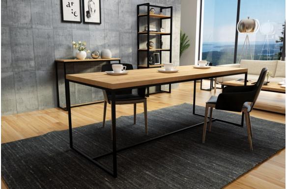 Duży stół dębowy do nowoczesnego wnętrza